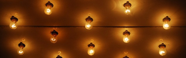 light bulbs illuminated
