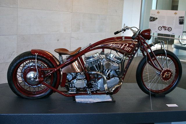 Motorcycle culture has brought about various styles of bikes over the years, like Hank Young's Flying Pan...