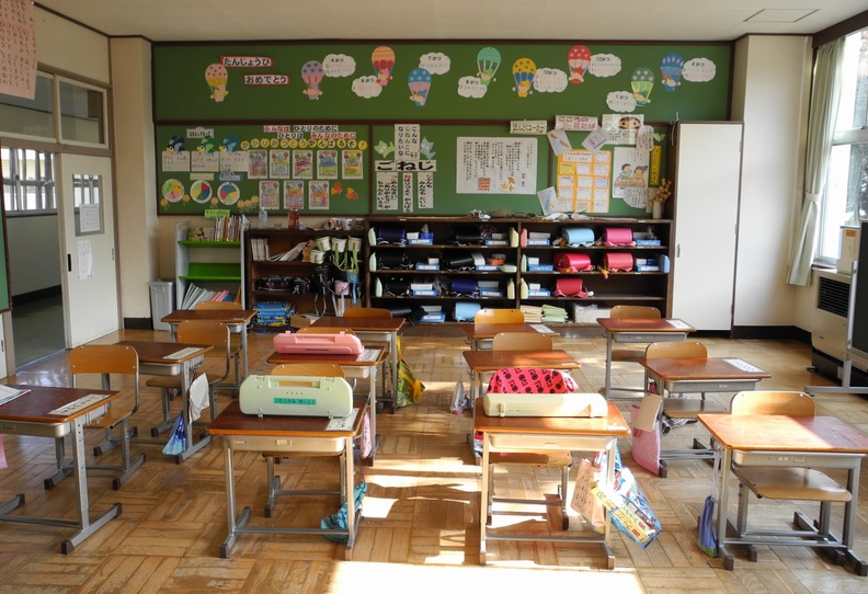 When you know how to clean a school, a sparkling classroom like this is the end result...