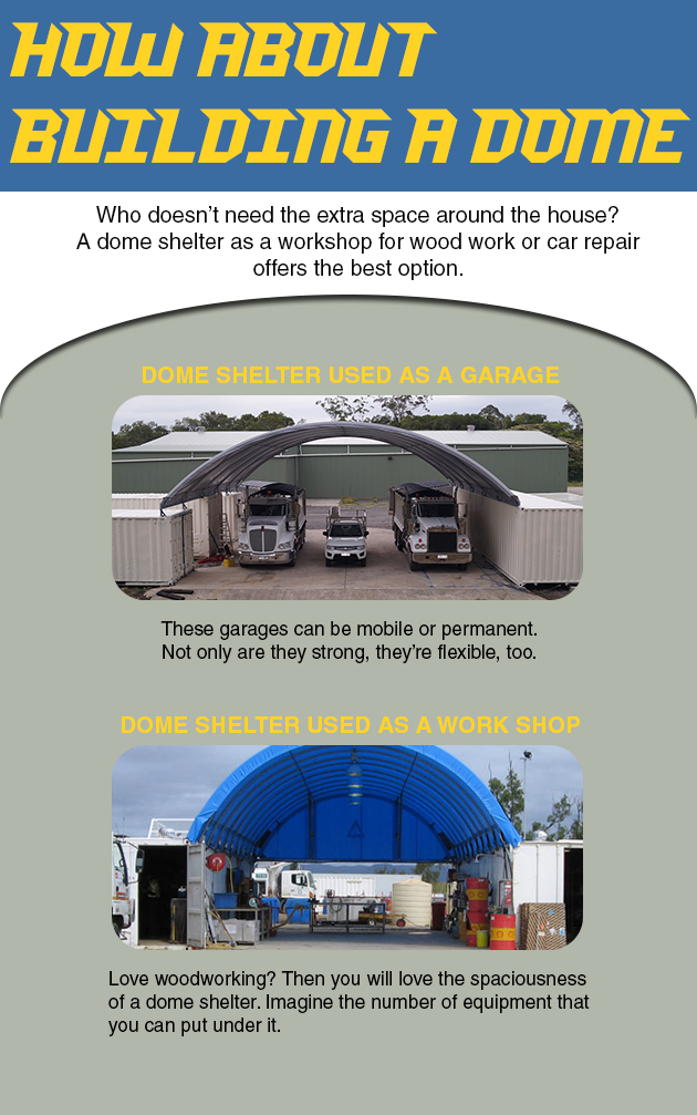 Looking for a cheap and effective way to create extra space on your property? How about building a Dome Shelter?
