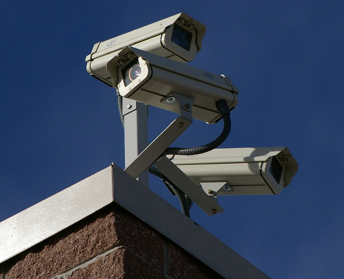 A high quality CCTV installation will guard your assets ... photo by CC user Hustvedt on wikimedia commons