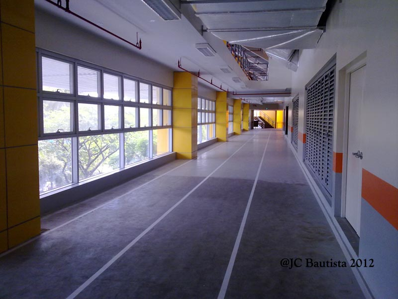 Rubber flooring is common in mnay recreation centers ... photo by CC user Jcbahamut  on wikipedia